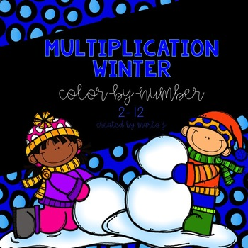 Winter Multiplication Color-By-Number
