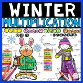 Winter Multiplication Coloring Pages