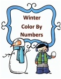 Winter Math Multiplication Color by Numbers