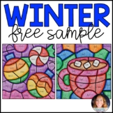 Winter Multiplication: Color by Product FREE