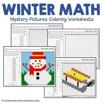 Winter Multiplication Worksheet, Multiplying Number Math ...