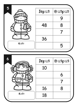 Winter Multiplication/ Division Input Output Tables