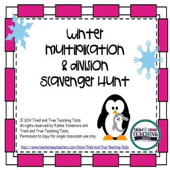 Winter Multiplication & Division Scavenger Hunt