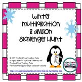 Winter Multiplication & Division Scavenger Hunt