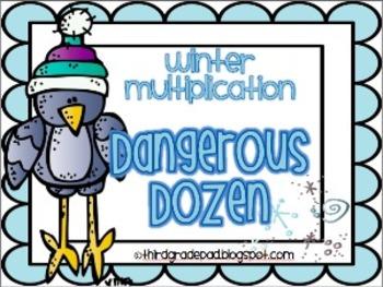Winter Multiplication Facts Dangerous Dozen