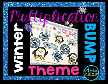 Winter Multiplication Facts Game - Multiplication Bump x2-