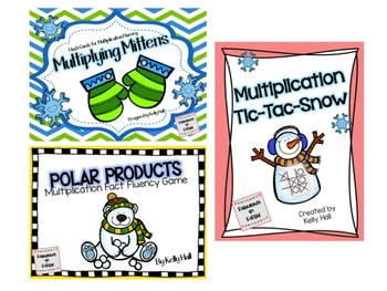 Winter Multiplication Games: TicTac Snow, Polar Products,
