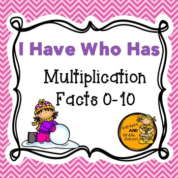 """Winter Multiplication """"I Have Who Has"""""""