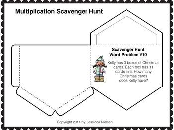 Winter Multiplication Interactive Notebook Activities