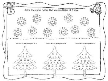 Winter Multiplication Math Practice