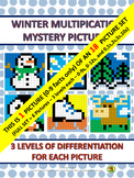 Winter Multiplication Mystery Pictures - Snowman (0-9s) only