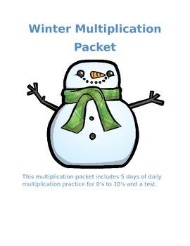 Multiplication Winter Worksheets