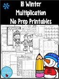 Winter Multiplication Printables