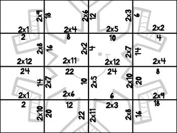 Winter Multiplication Puzzles