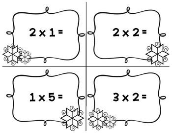 Winter Multiplication Scavenger Hunt