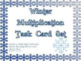 Winter Multiplication Task Card Set Advanced 3-digit by 2-digit