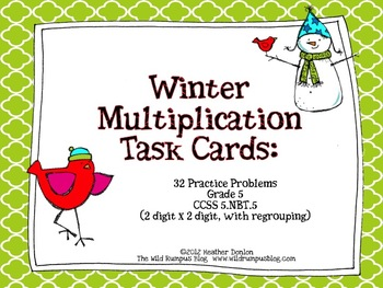Winter Multiplication Task Cards {32 Winter-Themed Task Cards}