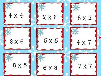 Winter Multiplication Task Cards: Make practice fun!