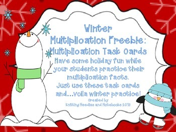 Winter Multiplication Task Cards: Make practice fun!