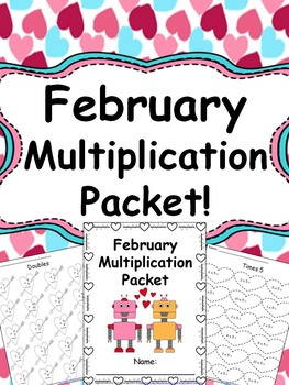 Winter Multiplication Worksheet Packets Mega Bundle {Just Print & Go!}
