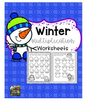 Winter Multiplication Worksheets