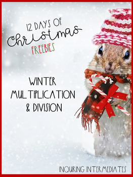 Winter Multiplication and Division - 12 Days of Christmas Freebies - Day 1