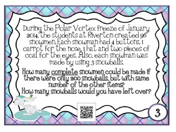 Winter Multiplication and Division Exemplars - QR Code Fun
