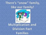Winter Multiplication and Division Fact Families