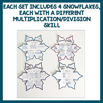 Winter Multiplication and Division Math Activity