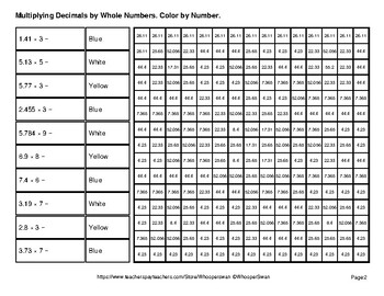 Winter:  Multiplying Decimals by Whole Numbers - Math Mystery Pictures