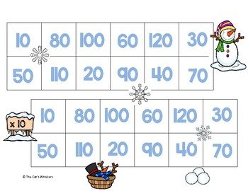 Winter Multiplying and Dividing by 10