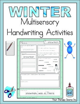 Winter Multisensory Handwriting Activities