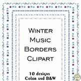 Winter Music Borders Clipart