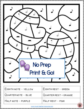Music Coloring Pages: 26 Winter Color by Music Sheets