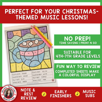 Christmas Music Activities: 26 Christmas Music Coloring ...