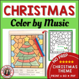 Christmas Music Activities l Notes and Rests Coloring Sheets