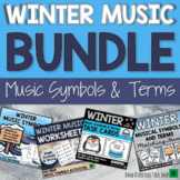 Winter Music Activities BUNDLE - Music Symbols Games & Winter Music Lessons