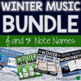Winter Music Activities BUNDLE- Note Name Games & Christmas Music Activities