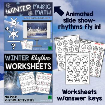 Winter Music Activities BUNDLE- Rhythm Games & Christmas Music Activities