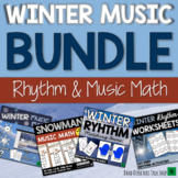 Winter Music Activities BUNDLE- Rhythm Games & Winter Music Lessons