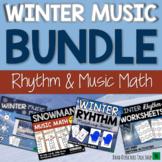 Winter Music Activities BUNDLE- Rhythm Games & Winter Music Lessons
