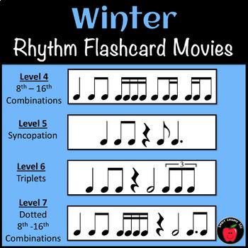 Winter Music Activities: Rhythm Card Activities for Winter Rhythm Music Theory