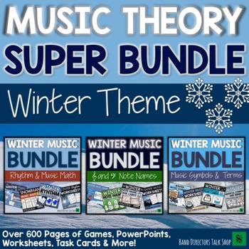 Winter Music Activities SUPER BUNDLE