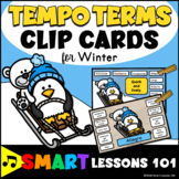 Winter Music Activity: Clip Card Tempo Activities: Tempo Flashcards Music Center