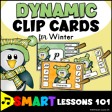 Winter Music Activity: Dynamic Activity Center: Clip Cards