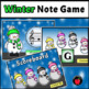 Winter Music Game Activity: Winter Treble Note Naming Game Note Reading Activity