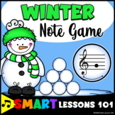 Winter Music Game Activity: Winter Treble Note Naming Game