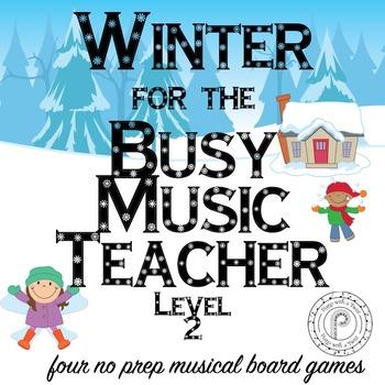 Winter Music Game Bundle Level  2: four board games, zero prep!