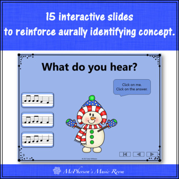 Winter Music Game: Do Re Mi Interactive Melody Game {Dancing Snowman}
