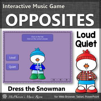 Winter Music Game ~ Dynamics Loud Quiet Interactive Music Game {Dress Snowman}